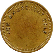 Amusement Token - Part and Property of Machine – reverse