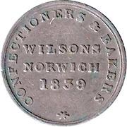 ¼ Penny (Norfolk - Norwich) – obverse