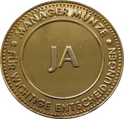 Manager coin (Ja) – obverse