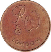 Token - R&W London (Value in kind only) – obverse