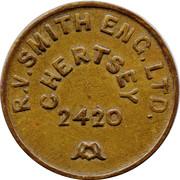 Token - R.V. Smith Eng. Ltd. (Chertsey) – obverse