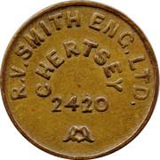 Token - R.V. Smith Eng. Ltd. (Chertsey) – reverse