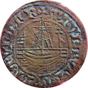 Counter Token (Ship and crowned shield) – obverse