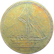 Spiel Marke (Sail boat) – obverse