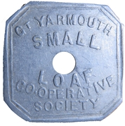 Token - Gt. Yarmouth small loaf Co-Op – obverse