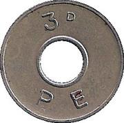 3 Pence - PE – obverse