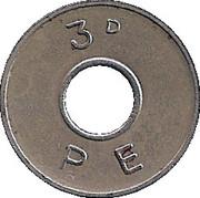 3 Pence - PE – reverse
