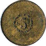 5 New Pence - Ruffler & Deith – reverse