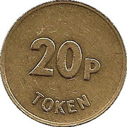 20 Pence Token - JPM  – reverse