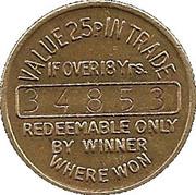25 Pence - Bell Fruit – reverse