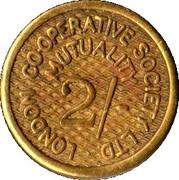 2 Shillings - London Co-operative Society Ltd – obverse