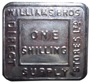 1 Shilling - Williams Bros. Direct Supply Stores Ltd – obverse
