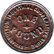 1 Pound - Broadbottom Industrial Co-op Store (Cheshire) – obverse