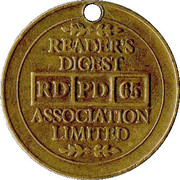 Token - Reader's Digest (RD PD 65 Association Limited) – obverse