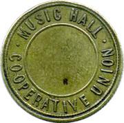 Token - Music Hall Co-operative Union – reverse