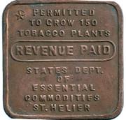 Token - Revenue Paid St Helier – obverse