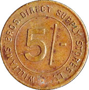 5 Shillings - Williams Bros. Direct Supply Stores Ltd – obverse
