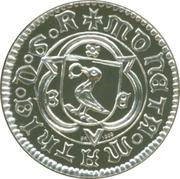 2008 Mint of Hungary / BU coin set medal – reverse