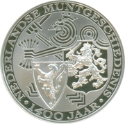 Coin-medal / 1400 Years of Coinage – reverse