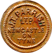 ½ Pennny - J.T. Parrish (Newcastle on Tyne) – obverse