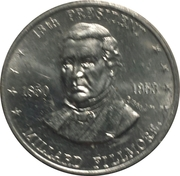 Token - Shell's Mr. President Coin Game (Millard Fillmore) -  obverse