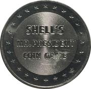 Token - Shell's Mr. President Coin Game (Millard Fillmore) -  reverse
