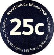 25 Cents - NAAFI Gift Certificate – reverse