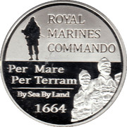 Token - Royal Marines – reverse