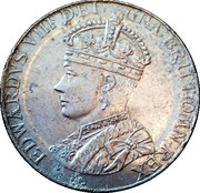 King Edward VIII Coronation Medal – obverse