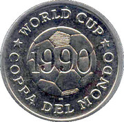 Token - FIFA World Cup 1990 (Spain) – reverse