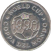 Token - FIFA World Cup 1990 (Costa Rica) – reverse