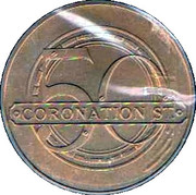 Coronation Street 50 Years Anniversary Medal – reverse