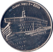 Queen Mary 2 Commemorative Medal – obverse