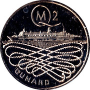 Queen Mary 2 Commemorative Medal – reverse