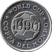 Token - FIFA World Cup 1990 (Brazil) – reverse