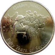 The Queens Golden Jubilee Commemorative Medal – obverse