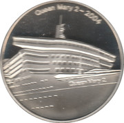 Queen Mary 2 Silver Commemorative Medal – obverse