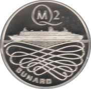 Queen Mary 2 Silver Commemorative Medal – reverse