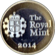 Royal Mint 2014 Premium Medal – reverse