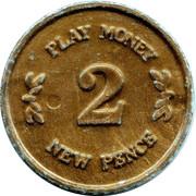 2 New Pence (Play Money) – reverse