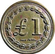1 Pound - Royal Arsenal Co-Operative Society – reverse