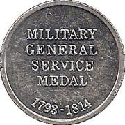 Cleveland Petrol Token - Military General Service Medal – obverse