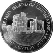 Holy Island of Lindisfarne medal – obverse