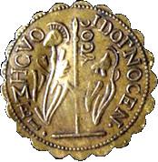 Counter Token (copie d'un ducat d'or du doge Alvise III Mocegino) – reverse