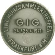 Token - German Numismatic Association (Frankfurt) – reverse