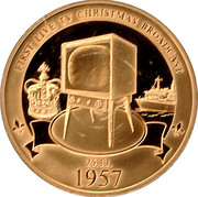 Queen Elizabeth II first TV Christmas broadcast – obverse