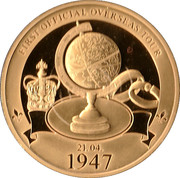 Queen Elizabeth II first official overseas tour – obverse