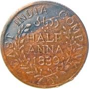 ½ Anna - East India Company (Hanuman) – obverse