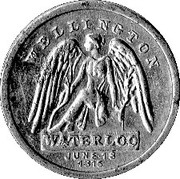 Cleveland Petrol Token - Wellington Waterloo June 18 1815 – obverse