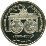 Token - 10 years of DM Farewell (50th Anniversary of BRD) – obverse